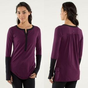 Lululemon Urbanite Henley Long Sleeve Sz 4 EUC